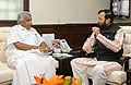 Oommen Chandy calling on the Minister of State for Information and Broadcasting (Independent Charge), Environment, Forest and Climate Change (Independent Charge) and Parliamentary Affairs, Shri Prakash Javadekar.jpg