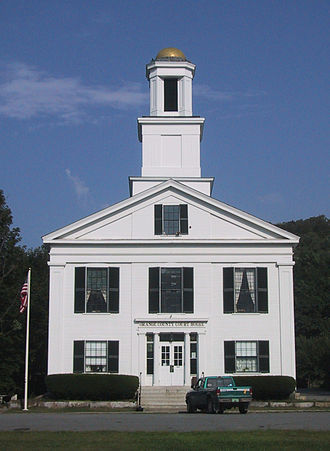 Orange County, Vermont - Image: Orange county court house vt