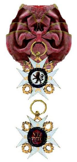 Philipp Ferdinand of Limburg-Stirum - The Order of St Philip of the Lion of Limburg was created by the Limburg Stirum to reward persons of exceptional scientific, artistic or civil virtue.