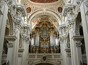 St. Stephen's Cathedral, Passau - Image: Orgel im St. Stephansdom Passau