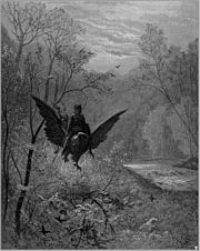 Hippogriff, illustration by Gustave Doré for Orlando furioso.