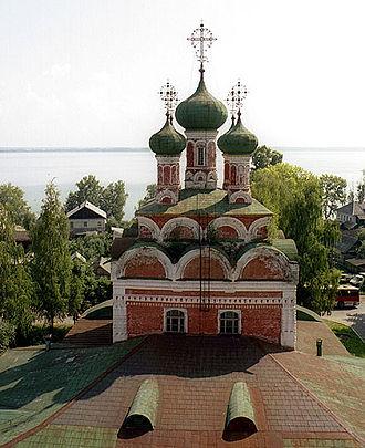 Ostashkov - Ostashkov's Orthodox cathedral (1689) overlooking Lake Seliger