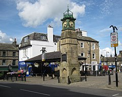 Otley Market Place clock 7 August 2017.jpg