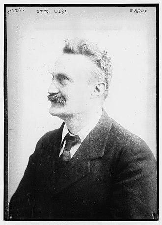 Otto Liebe - Image: Otto Liebe circa 1915 1920