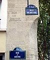 P1040596 Paris V rue de Bièvre plaques et inscription rwk.JPG