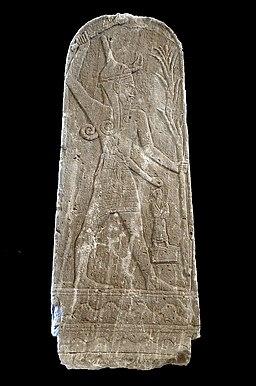 P1050759 Louvre stèle du Baal au foudre rwk