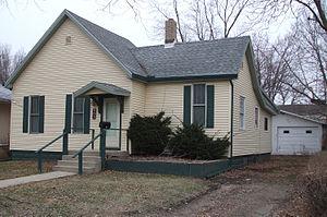 Brotherhood of Railroad Trainmen - Childhood home of Patrick Morrissey, Brotherhood of Railroad Trainmen leader in Bloomington, Illinois