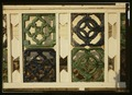 PORCH, DETAIL OF PIERCED TILE INSERTS - Fryer's Cottage, 9 Perry Street, Cape May, Cape May County, NJ HABS NJ,5-CAPMA,60-3 (CT).tif