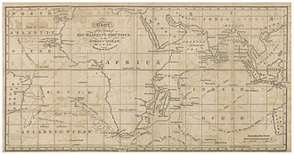 HMS Nisus (1810) - Image: PRIOR(1819 Chart of the Route of HMS NISUS