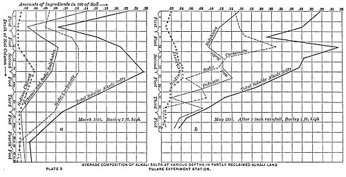 PSM V48 D679 Alkali salt depth chart of the tulare experimental station.jpg
