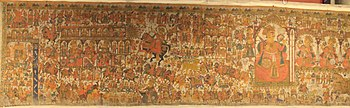 Folk-deity Pabuji in Pabuji Ki Phad, a Phad painting scroll at National Museum, New Delhi
