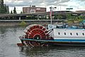 Paddle wheel and aft of the Portland (1947 steam tug) in mid-river, 2012.jpg
