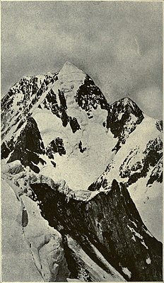 Mittig der Aoraki, rechts davon der Mount Dampier