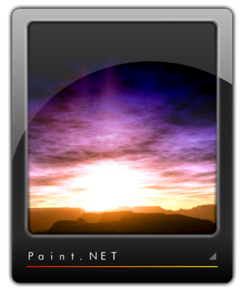 "Winning entry for the ""Unofficial Paint.NET Logo Contest"" at the Paint.net forum"