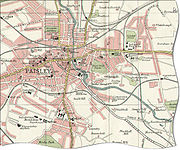 Map of Paisley in 1923
