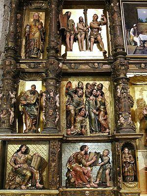 Detalle del Retablo Mayor plateresco (siglo XV...