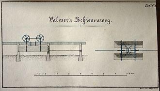 Henry Robinson Palmer - Draft of Palmer's monorail
