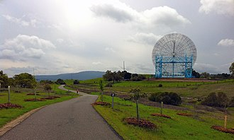 The Dish (landmark) - The dish from the running path
