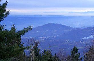 Monte Musinè - Mount Musinè (in the background) seen from Monte Casto (Pennine Alps, BI)