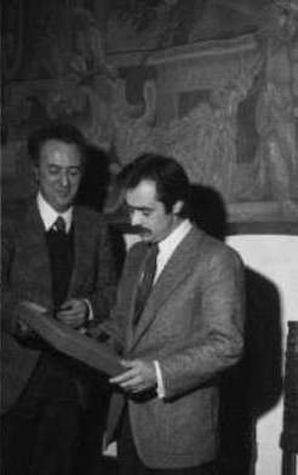 Alexandros Panagoulis - Panagoulis in Florence (1973), with (to his right) Luigi Tassinari