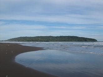 2006 Pangandaran earthquake and tsunami - The beach and peninsula encompassing Pangandaran National Park