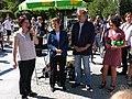 Pankow Direktkandidatin Stefanie Remlinger mit Renate Künast, Volker Ratzmann und Bettina Jarasch.jpg