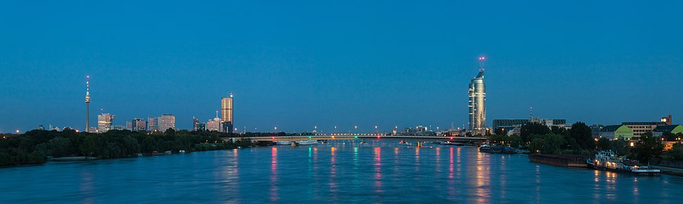 Panorama of the Danube in Vienna