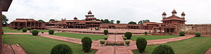 Culture of Uttar Pradesh - Image: Panoramic vie of Fahpur Sikri Palace