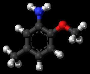 Para-Cresidine - Image: Para Cresidine 3D ball