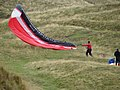 Paragliding Over for the Day - geograph.org.uk - 577072.jpg