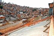 Obras de urbanização da favela de Paraisópolis