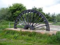 Parkhill Colliery pit wheel - geograph.org.uk - 1319054.jpg