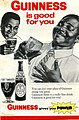 Part of a 1968 advertising sheet for Guinness after they established a brewery in Sierra Leone (West Africa) (1727997539).jpg