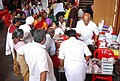 Patients collecting free medicines during the Medical Camp organized as part of the Bharat Nirman Public Information Campaign, at Pookottur, Malappuram District, in Kerala on October 13, 2011.jpg