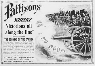Pattison's whisky - One of the many Pattisons advertisements