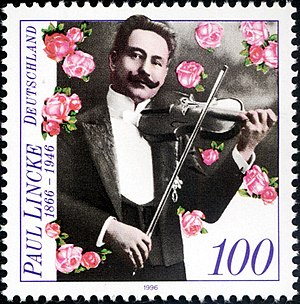 Paul Lincke - Paul Lincke on a German postage stamp, 1996