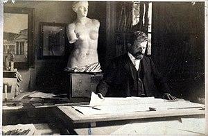 Paul Wallot - Paul Wallot in his studio