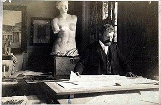 Paul Wallot - Wallot in his studio