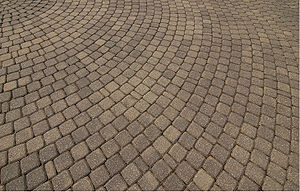 Circular paver blocks