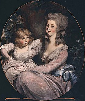 Peggy Shippen Arnold and daughter Sophia by Daniel Gardner, c. 1787 Peggy Shippen and daughter.jpg