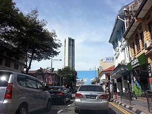 Komtar - KOMTAR as seen from Penang Road in George Town.