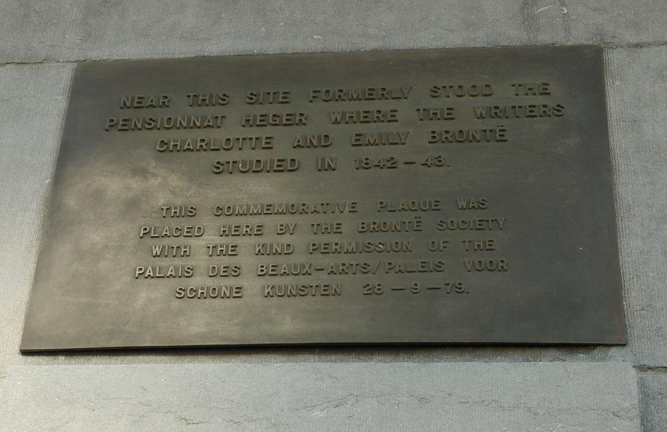 Pensionnat Heger plaque