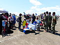 People around Thundertigers AT-3 Shaped Trailer onTainan Air Force Apron 20130810.jpg