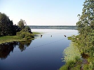 Okulovsky District - Lake Peretno and the source of the Peretna River