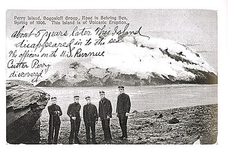 United States Revenue Cutter Service - Officers of the revenue cutter Perry in the Aleutian Islands, 1906.