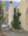 Peter Ilsted - Blomstrende Pelargonie. Capri - 1891.png