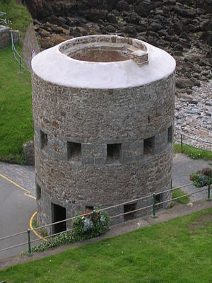 Guernsey loophole towers - Petit Bôt tower seen from above
