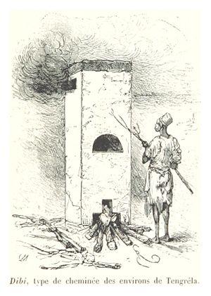 Tengréla - Dibi, a type of chimney used in Tingréla, 1892