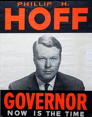 Philip H. Hoff - Poster from Hoff's 1962 campaign.