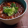 Photo of Beet Greens & Fresh Baby Corn In Fiery Red Meat Chili (3992368414).jpg